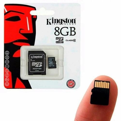 Imagen 1 de 2 de Memoria Micro Sd Kingston 8gb Clase 10 Con Adatador