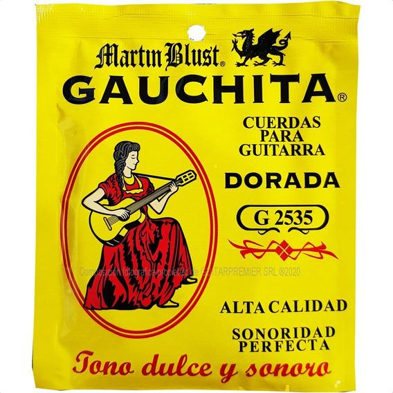 Encordado Guitarra Criolla Clasica Gauchita G2535 M Blust