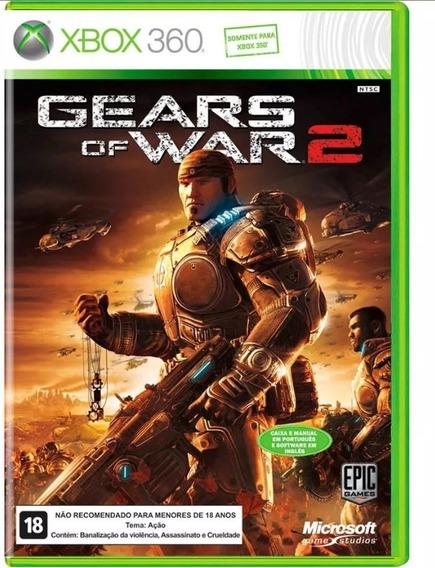 Jogo Xbox 360 Game Gears Of War 2 Midia Original