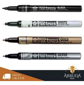 Caneta Sakura Kit 4 Marcador Pen Touch Tipo Spray