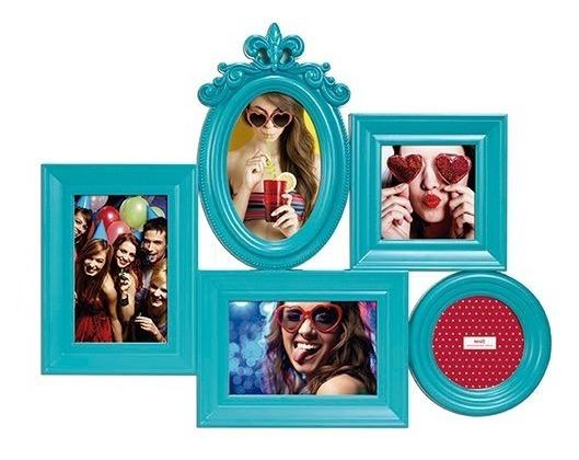 Porta Retrato Mart Provençal Azul 5 Fotos 4043