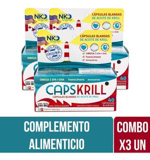 Capskrill Omega 3 Aceite De Krill X 40 Caps Combo X 3 Unid.