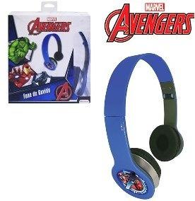 Fone De Ouvido C\ Fio Infantil Marvel Avengers Dobrável