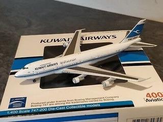 Miniatura Kuwait Airways Boeing 747-200 1/400
