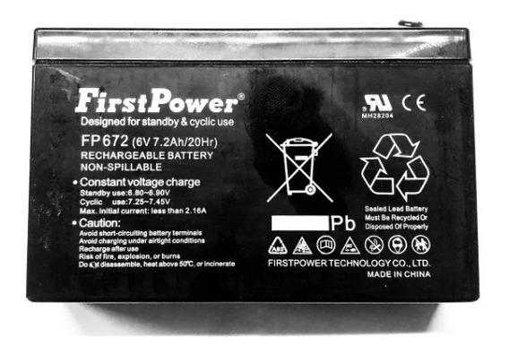 Bateria 6v 7ah Brinquedo Bandeirantes Magic Toys Biemme