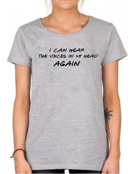 Remera Dama Friends I Can Hear Voices In My Head Phoebe
