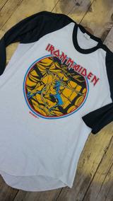 Playera Iron Maiden 1983 Tour Vintage Antigua