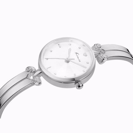 Relógio Feminino Fashion Luxo Social Kimio 6041 Redondo