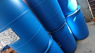 Bidón De Plástico Azul O Blanco De 220 Litros Para Agua