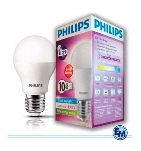Lampara Led Philips 10.5w 220v 3000k Calida Oferta!!