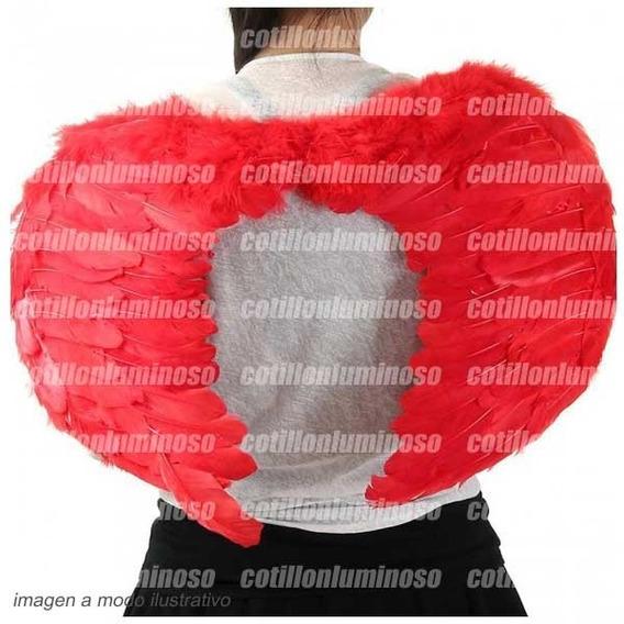 Alas De Angelito Color Rojo Plumas Disfraz Despedida