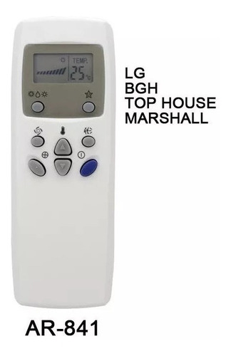 Control Remoto Ar841 Aire Acondicionado LG Bgh Top House