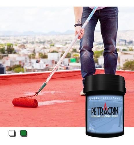Pintura Membrana Liquida Petracrin Eco Roja 4 Kg Sin Interes