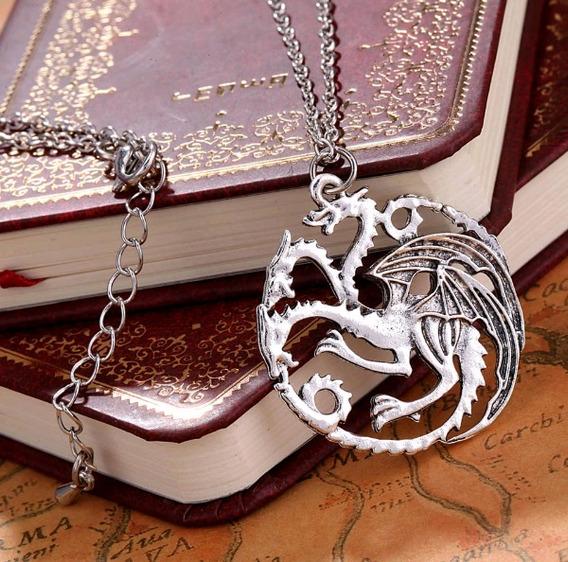 Colar Game Of Thrones Casa Targaryen Dragão Daenerys Got