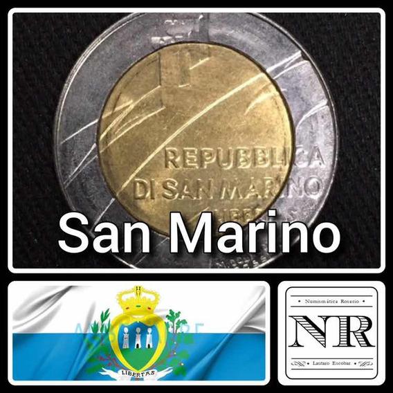 San Marino - 500 Liras - Año 1990 - Bimetálica - Palomas