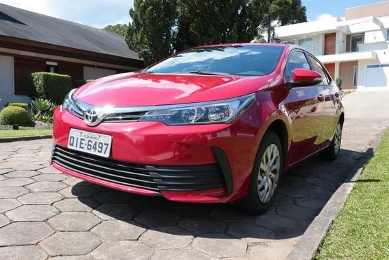 Toyota Corolla Gli Mod 2018 Automático Vermelho Único Dono