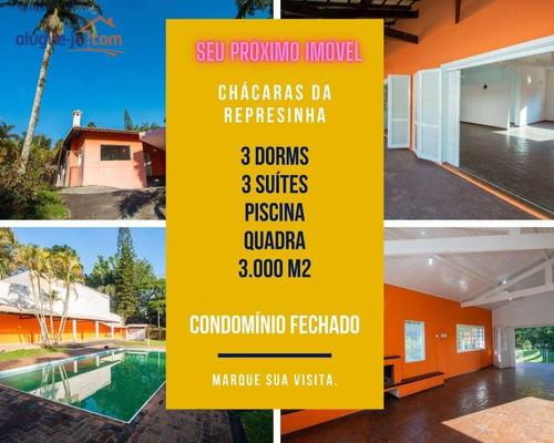 Imagem 1 de 25 de Chácara A Venda Em Condomínio Fechado Próximo De São Paulo, Em Cotia - Ch0221