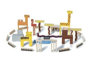 Juegos De Madera Animal Blocks Bs