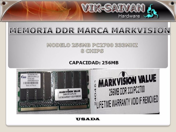Memoria Ddr Markvision 256mb Pc-2700 333mhz 8 Chips 2