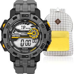Kit Relógio Masculino Mormaii Com Mochila Vintagemo1148ac