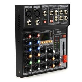 Mesa Som Dj 7 Canais Mp3 Usb Digital Conecta Celular Bluetot