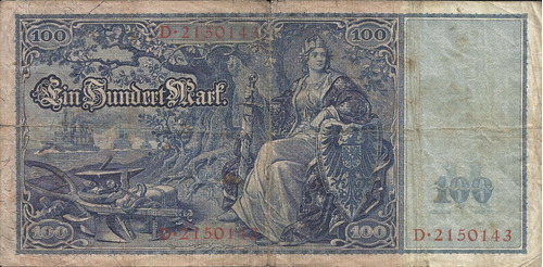 Imagen 1 de 2 de Alemania 100  Marco 1910