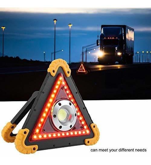 Triangulo De Emergencia 500 Luces Portable Recargable