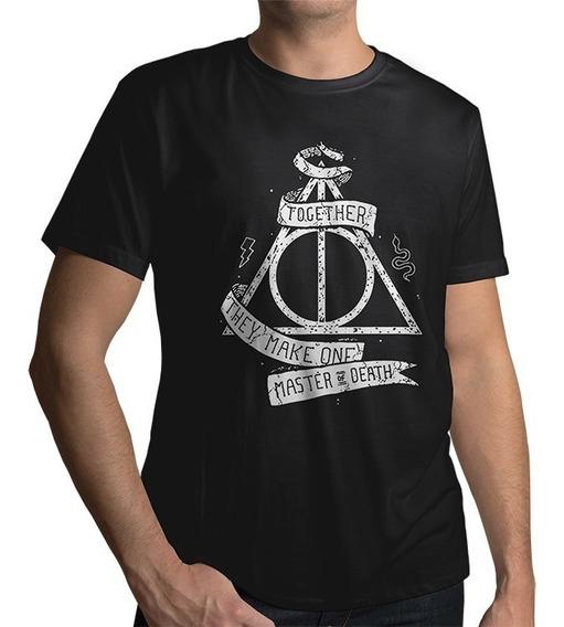 Camisa Harry Potter Reliquias Da Morte Camiseta 100% Algodão