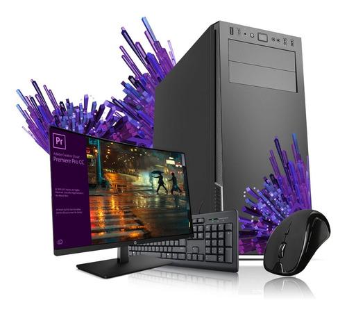 Imagen 1 de 2 de Pc Diseño Intel I5 10400 Ram 16gb Ssd 240gb Wifi W10 Monitor