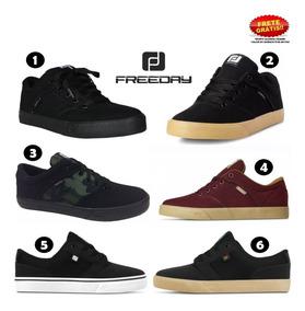 Tênis Freeday Preto Flip Vulc Eco Select Original Skate
