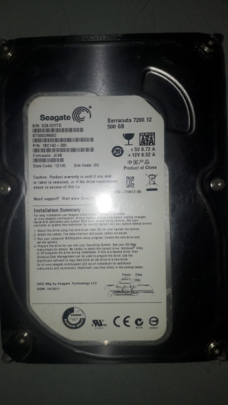 Disco Duro Seagate Barracuda 7200rpm 500gb Sata