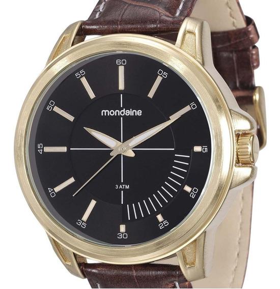 Relógio Mondaine Clássico Masculino 76604gpmvdh2 Marrom + Nf