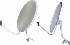 Kit 2 Antenas 60cm+100m Cabo Rg6+2 Lnb Duplo+100 Conectores