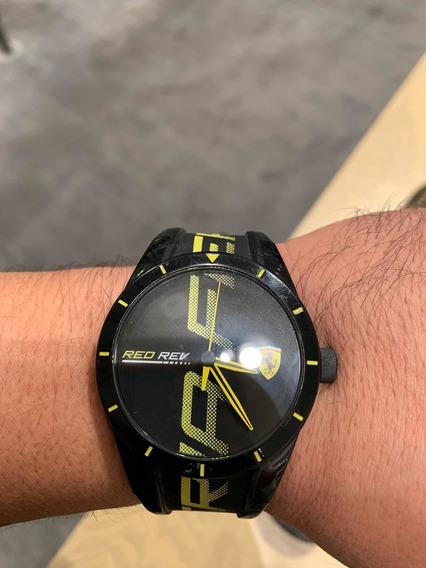 Reloj Ferrari -negro Con Amarillo-
