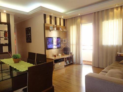 Imagem 1 de 28 de Apartamento No Castelo De Chevalier Com 3 Dormitórios À Venda, 80 M² Por R$ 405.000 - Planalto - São Bernardo Do Campo/sp - Ap1331