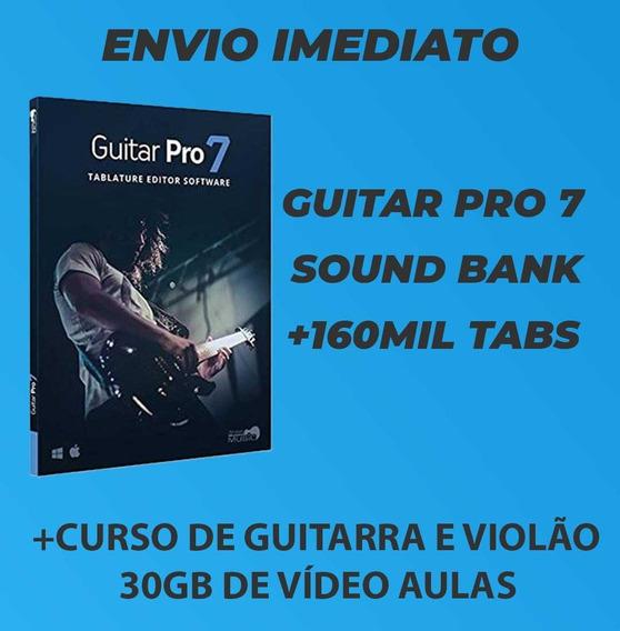 Guitar Pro 7 + Soundbanks + 160 Mil Tabs + Vídeo Aulas
