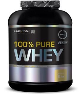 100% Pure Whey Protein 2kg - Probiótica - C/ Nf
