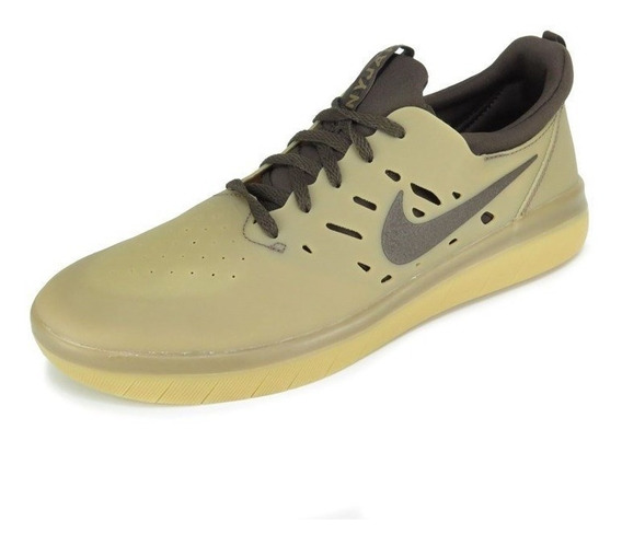 Tênis Nike Sb Nyjah Free Bege Marrom Aa4272-992