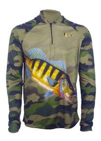 Camisa De Pesca Fps Uv 50+ Com Nome E Tube De Brinde
