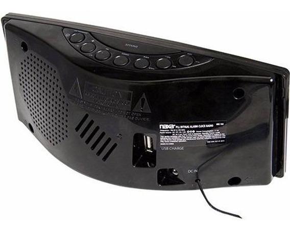 Rádio-relógio Digital Carga Usb Naxa