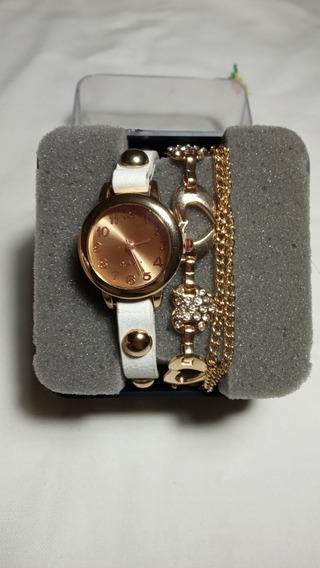 Relógio De Corrente De Quartzo De Coração Feminino (barato)