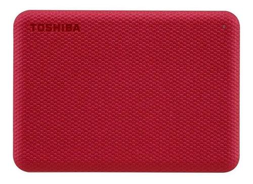 Imagen 1 de 4 de Disco duro externo Toshiba Canvio Advance HDTCA10X 1TB rojo