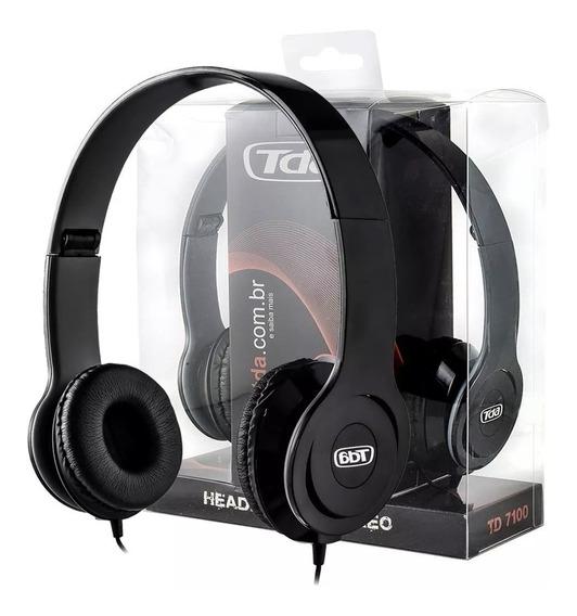 Kit C/ 6 Unidades Fone De Ouvido Headphone P2 Td 7100 Tda