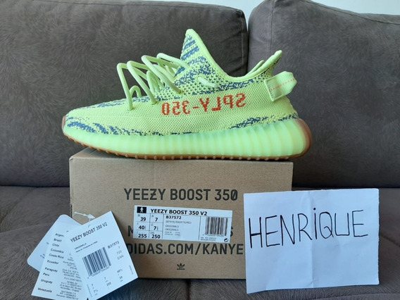 Yeezy Boost V2 Semi Frozen Yellow Tag Br 39 Vnds - Original