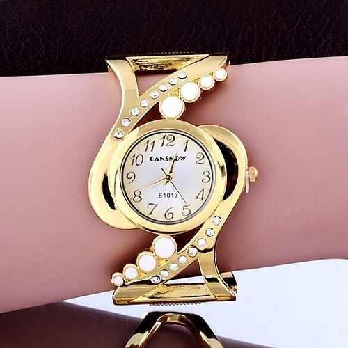Presente Criativo Namorada Relogio Bracelet Feminino Dourado