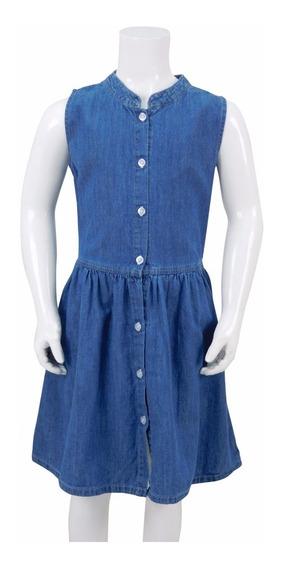 Vestido De Mezclilla Para Niña. Estilo 7143
