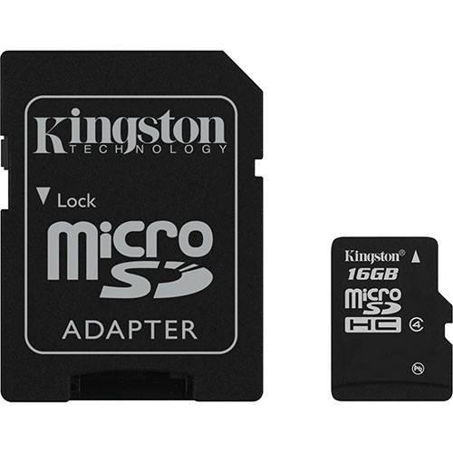 Cartão De Memória Kingston Microsdhc 16gb Classe 4