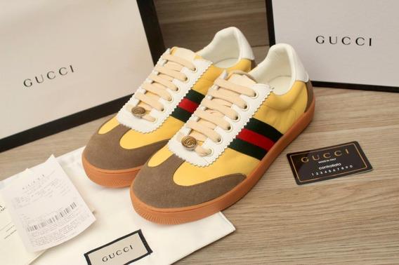 Tenis Gucci Screener Amarillos Envio Express Gratis