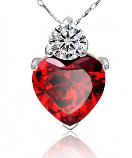 Colar Coração Love Feminino Prata 925 Coração Cristal