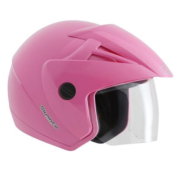 Capacete Ebf Thunder Open Solid Rosa 58/m